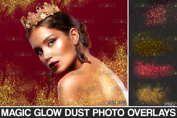 Blowing Glitter Overlay Photoshop Graphic Actions & Presets By 2SUNS
