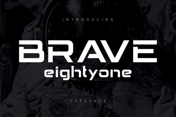 Print on Demand: Brave Eighty One Display Font By Alit Design