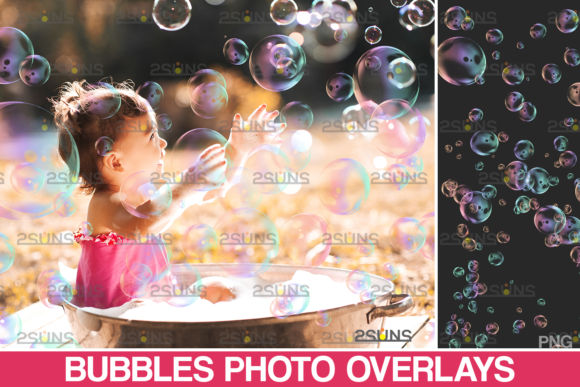 Bubble Overlays & Soap Bubble Png Files Graphic Actions & Presets By 2SUNS
