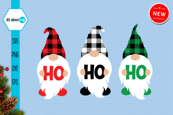 Christmas Buffalo Plaid Gnomes Svg Graphic Crafts By All About Svg