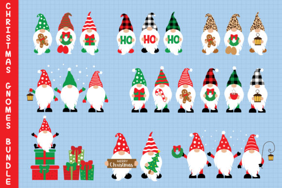 Christmas Gnomes Bundle Svg Graphic Crafts By All About Svg