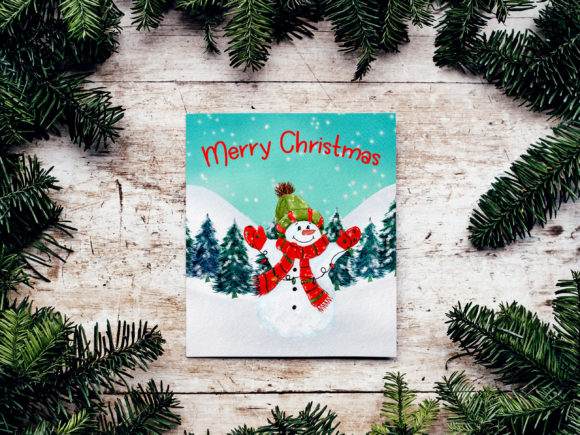 Christmas Landscapes Cards Graphic Item