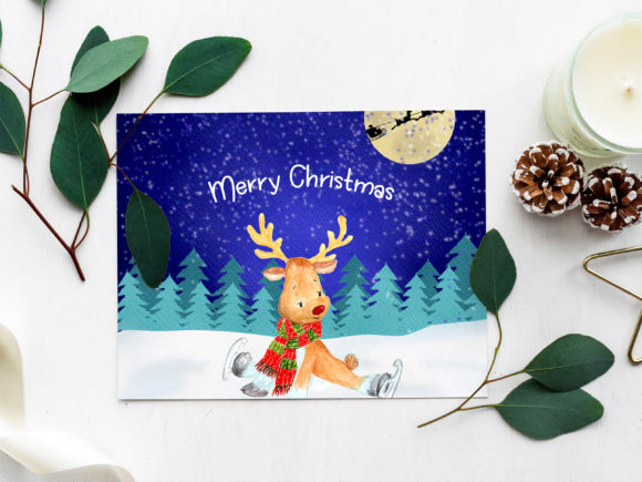 Christmas Landscapes Cards Graphic Design