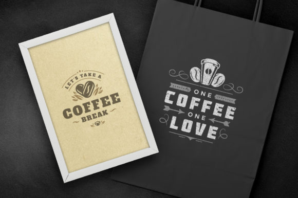 Coffee Quotes and Phrases Set Graphic Design
