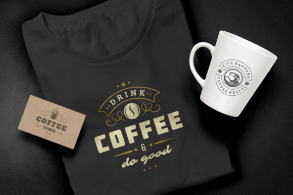 Coffee Quotes and Phrases Set Graphic Preview