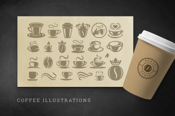 Coffee Quotes and Phrases Set Graphic Image