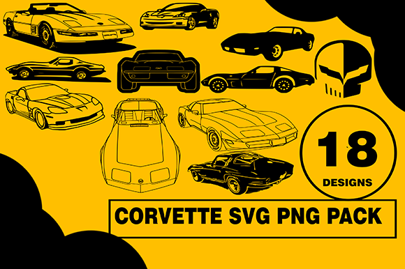 Print on Demand: Corvette Desing Bundle Usa Cars Graphic Illustrations By CactusTreeDesigns