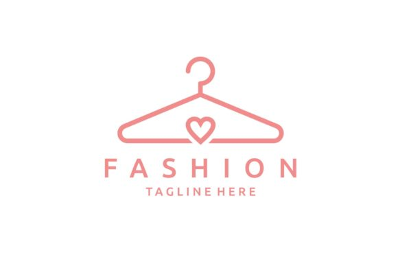 Creative Hanger with Love Fashion Logo Graphic Logos By sore88