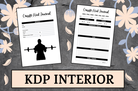 Print on Demand: Crossfit Wod Journal   KDP Interior Graphic KDP Interiors By Hungry Puppy Studio