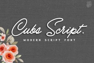 Print on Demand: Cubs Script Script & Handwritten Font By inumocca_type