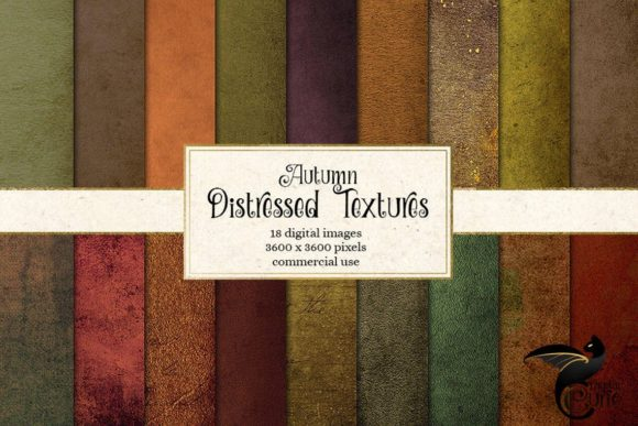 Print on Demand: Distressed Autumn Textures Graphic Textures By Digital Curio