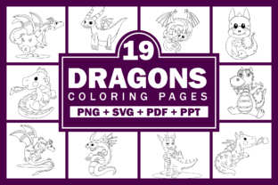 Print on Demand: Dragons Coloring Pages for Kids KDP Graphic Coloring Pages & Books Kids By Fayne