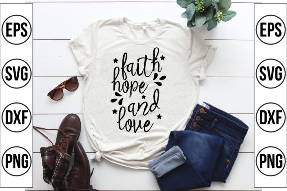 Faith Hope and Love Graphic Crafts By Craft Store