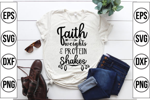 Faith Weights Protein Shakes Graphic Crafts By Craft Store