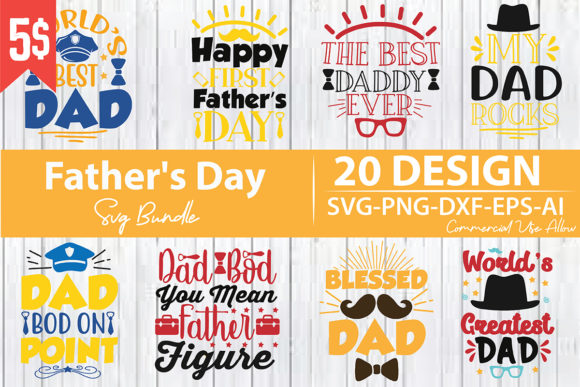 Father's Day SVG Bundle  By creativejasim2