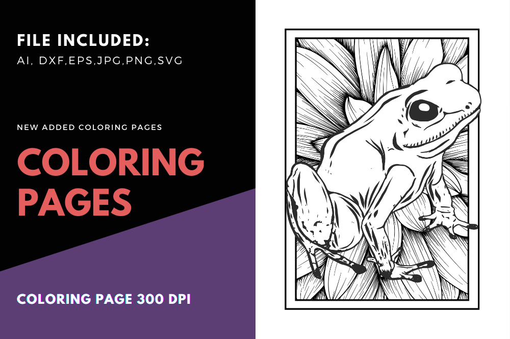 - Frog Print Detailed Coloring Page (Graphic) By Stanosh · Creative Fabrica