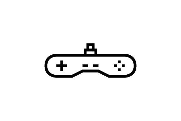 Game Control Line Icon Graphic Icons By thenoun.faisal