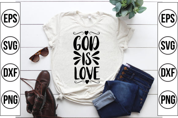 God is Love Graphic Crafts By Craft Store