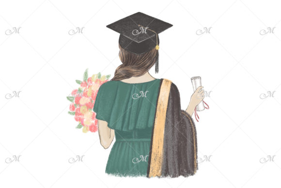 Graduated Girl Hand Drawn Illustration Graphic Illustrations By MaddyZ