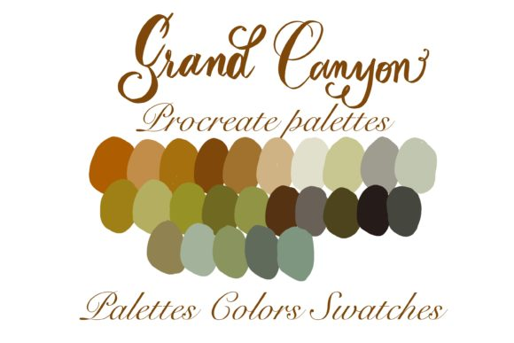 Grand Canyon Procreate  Palettes Graphic Add-ons By Poycl Jazz