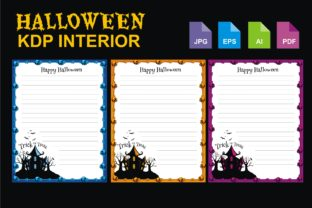 Print on Demand: Halloween KDP Interior Template Graphic Illustrations By edywiyonopp