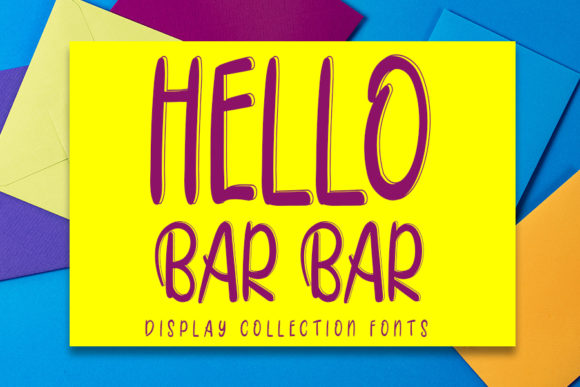 Print on Demand: Hello Bar Bar Display Font By Inermedia STUDIO