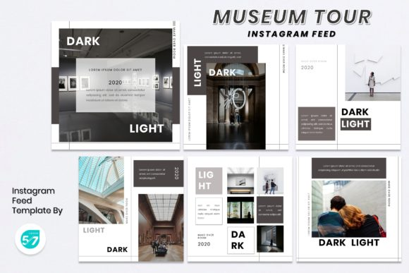 Instagram Feed Template - Room Graphic Presentation Templates By maju57creative