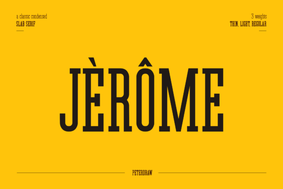 Print on Demand: Jerome Slab Serif Font By peterdraw