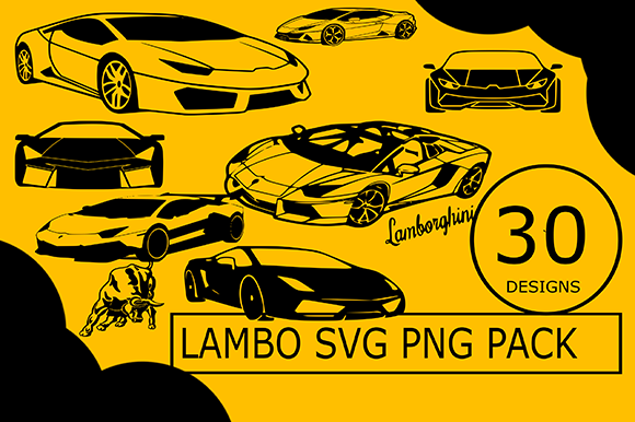 Lambo Hyper Car Cricut Files Graphic Illustrations By CactusTreeDesigns