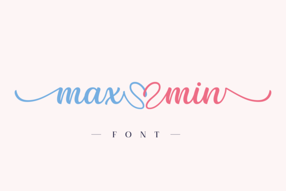 Print on Demand: Max Min Script & Handwritten Font By Situjuh