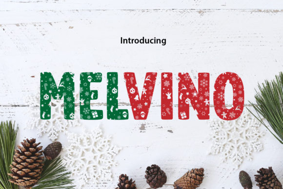 Print on Demand: Melvino Decorative Font By da_only_aan