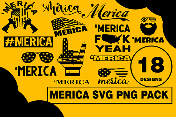 Merica Murica Design Usa Bundle Graphic Illustrations By CactusTreeDesigns