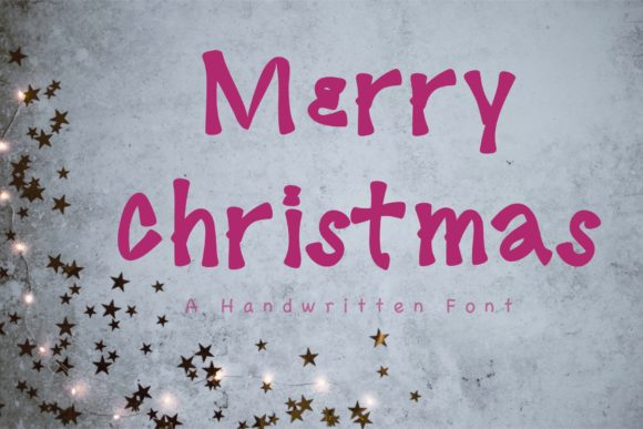 Print on Demand: Merry Christmas Display Font By KateType