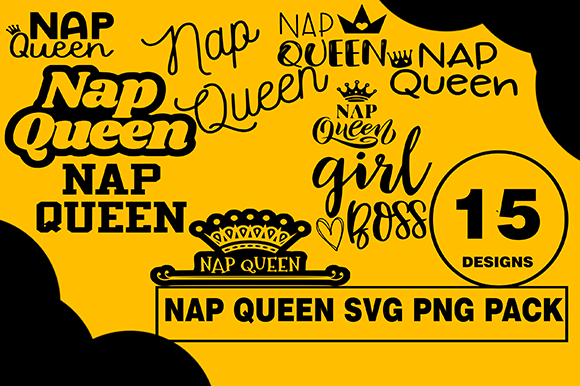 Nap Queen Design Bundle Napster Graphic Illustrations By CactusTreeDesigns