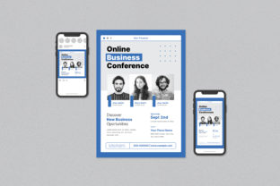 Online Business Conference Flyer Set Graphic Print Templates By ihsanshihab.design
