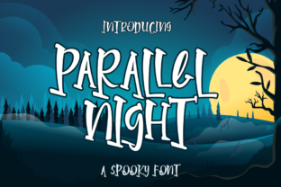 Print on Demand: Parallel Night Display Font By Rvandtype