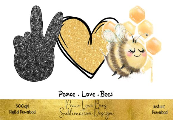 Peace Love Bees Graphic Illustrations By STBB