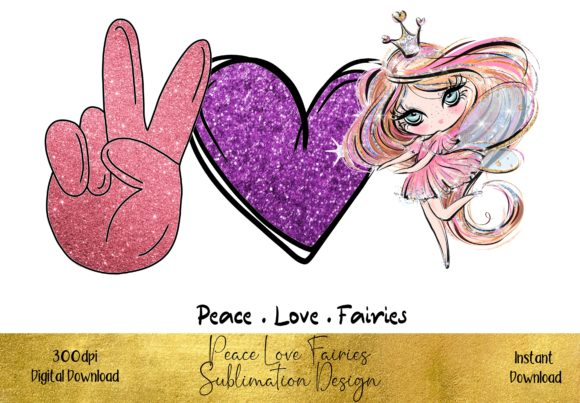 Peace Love Fairies Graphic Illustrations By STBB