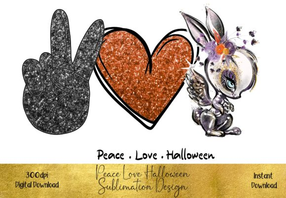 Peace Love Halloween Graphic Illustrations By STBB