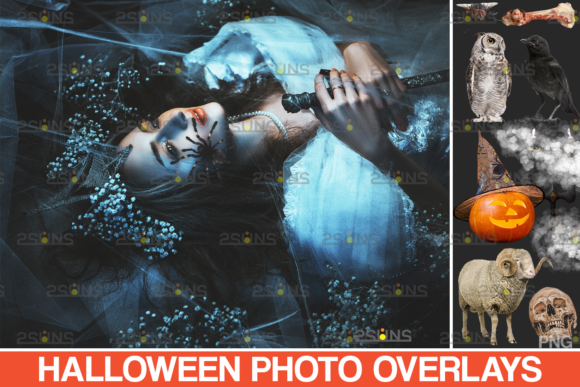 Photoshop Overlay & Halloween Clipart Graphic Actions & Presets By 2SUNS