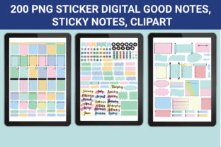 Print on Demand: Sticker Digital for Goodnotes Graphic Objects By Nendiemeliaa