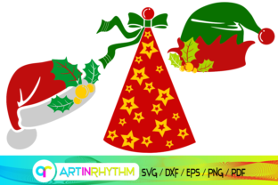 Santa Claus Hat, Elf's Hat, Party Hat Grafik Plotterdateien von artinrhythm