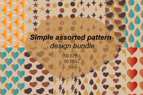 Print on Demand: Simple Assorted Pattern Bundle  By Finart