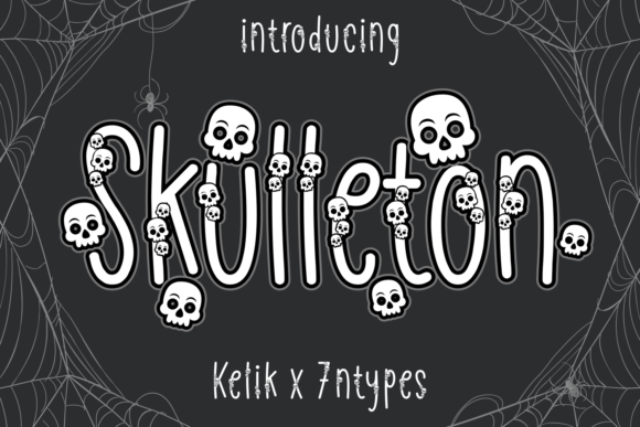 Print on Demand: Skulleton Decorative Font By Kelik - 7NTypes