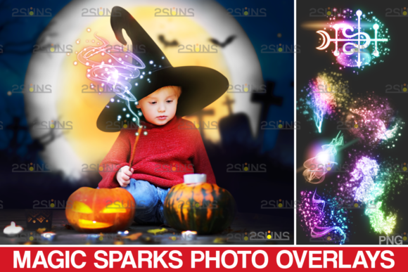 Sparkler Overlays & Photoshop Overlay Graphic Actions & Presets By 2SUNS
