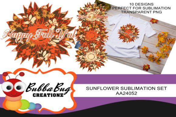 Sunflower Sublimation Set 1 Graphic Crafts By BUBBABUG