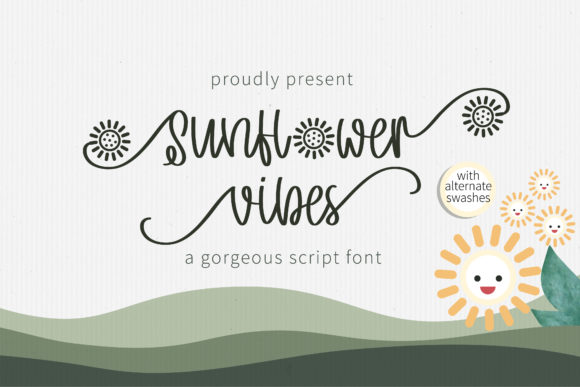 Print on Demand: Sunflower Vibes Script & Handwritten Font By BitongType