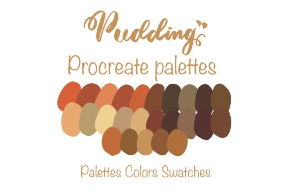 Sweet Pudding  Procreate Palettes Graphic Add-ons By Poycl Jazz