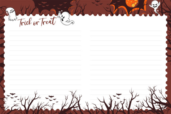 Trick or Treat for KDP Interior Notes Graphic KDP Interiors By onoborgol