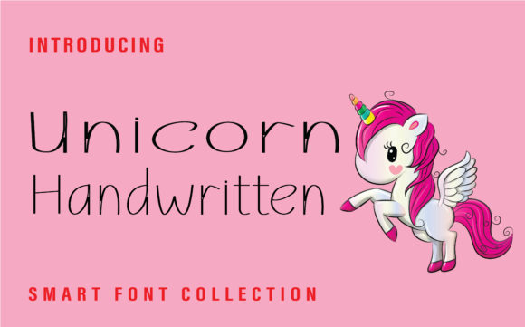 Print on Demand: Unicorn Script & Handwritten Font By Farz Studio